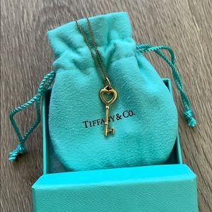 18K Tiffany Rose Gold Heart Necklace